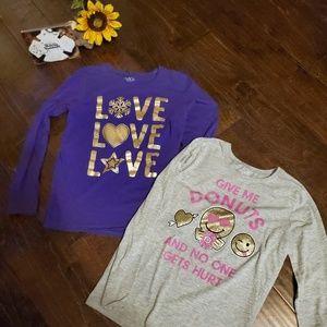 Girls LOT of (2) shirts size XL/14